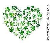 vector heart made of summer... | Shutterstock .eps vector #461641276