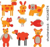 cartoon animals. vector | Shutterstock .eps vector #46164874