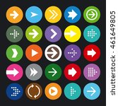 arrow icons set | Shutterstock .eps vector #461649805