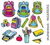 back to school big doodles set. ... | Shutterstock .eps vector #461650252