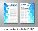 brochure template  flyer design ... | Shutterstock . vector #461651206