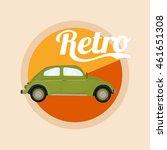 retro classic car poster... | Shutterstock .eps vector #461651308