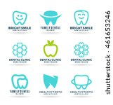 set of stomatology symbols and... | Shutterstock .eps vector #461653246
