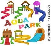 childrens fun in summing water... | Shutterstock .eps vector #461653306