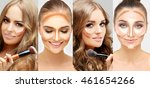 contouring.make up of female... | Shutterstock . vector #461654266