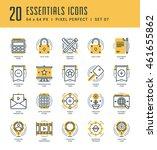 line icons set. trendy modern... | Shutterstock .eps vector #461655862