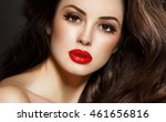 portrait of gorgeous brunette... | Shutterstock . vector #461656816