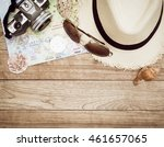 travel concept with digital... | Shutterstock . vector #461657065