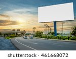 billboard blank for outdoor... | Shutterstock . vector #461668072