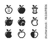 apple icon set | Shutterstock .eps vector #461669806