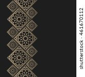 golden frame in oriental style. ... | Shutterstock .eps vector #461670112