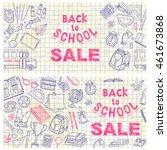back to school flyer template... | Shutterstock .eps vector #461673868