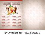 color horizontal menu design | Shutterstock .eps vector #461680318