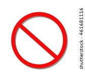 no sign symbol. vector on white ... | Shutterstock .eps vector #461681116