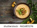 chanterelle mushroom cream soup ...   Shutterstock . vector #461685196