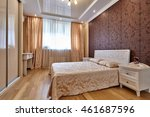 bedroom with a beautiful... | Shutterstock . vector #461687596