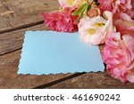 beautiful flowers and gift card ... | Shutterstock . vector #461690242