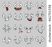 comic cartoon faces with... | Shutterstock .eps vector #461701558