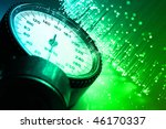 fiber optics background with... | Shutterstock . vector #46170337