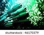 fiber optics background with... | Shutterstock . vector #46170379