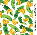 seamless pattern with banana... | Shutterstock .eps vector #461704936