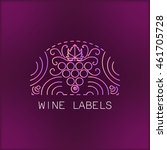 wine line emblems  elements ...   Shutterstock .eps vector #461705728