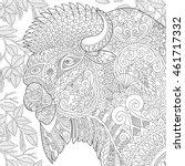 stylized buffalo  american... | Shutterstock .eps vector #461717332