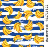 seamless pattern with bananas... | Shutterstock .eps vector #461719522