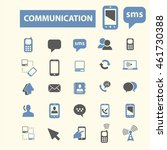 communication icons | Shutterstock .eps vector #461730388