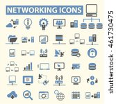 networking icons | Shutterstock .eps vector #461730475