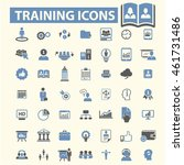 training icons | Shutterstock .eps vector #461731486