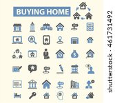 buying home icons | Shutterstock .eps vector #461731492