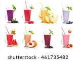 different types of smoothies ... | Shutterstock . vector #461735482