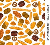 bakery seamless vector... | Shutterstock .eps vector #461742535