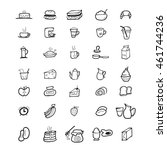 bakery and food icons set | Shutterstock .eps vector #461744236
