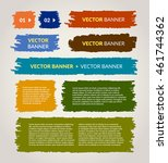 hand drawn vector banners set | Shutterstock .eps vector #461744362