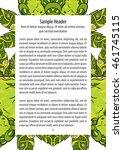psychedelic marijuana cannabis... | Shutterstock .eps vector #461745115