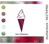 ice cream vector icon | Shutterstock .eps vector #461745982