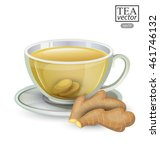 cup of ginger tea isolated on... | Shutterstock .eps vector #461746132