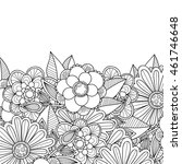 doodle flowers and leaves... | Shutterstock .eps vector #461746648
