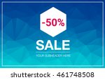 super sale special offer web... | Shutterstock .eps vector #461748508