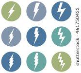 vector set of thunder lighting... | Shutterstock .eps vector #461750422