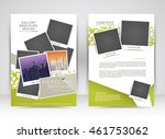 green annual report brochure... | Shutterstock .eps vector #461753062