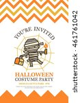 halloween invitation card for... | Shutterstock .eps vector #461761042