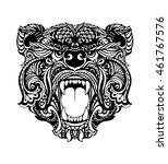 bear head tattoo isolated | Shutterstock .eps vector #461767576