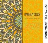 vector mandala decor for your... | Shutterstock .eps vector #461767822