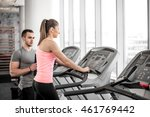 personal fitness trainer... | Shutterstock . vector #461769442