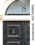 House Number 8 Sign On Door