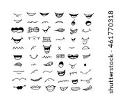 cartoon mouth icon illustration ... | Shutterstock .eps vector #461770318