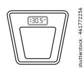 flat design digital scale icon...